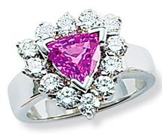 pink sapphire and diamond ring Pink Sapphire Ring, Heart Ring, Diamonds, Sparkle, Bling, Weddings, Jewelry, Gift, Jewel