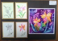 2d Design, Graphic Design, Owl Doodle, Blue Jay Bird, Flower Wallpaper, Word Art, Art Education, Art Decor, How To Draw Hands