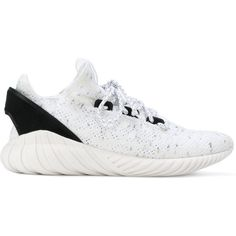 Adidas Originals Tubular Doom Sock sneakers ($136) ❤ liked on Polyvore featuring men's fashion, men's shoes, men's sneakers, mens white sneakers, mens twisted x shoes, mens round toe shoes, mens white shoes and mens lace up shoes