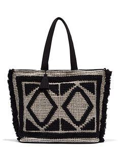 Eva Mendes Collection Fringe Tote Bag New York Company