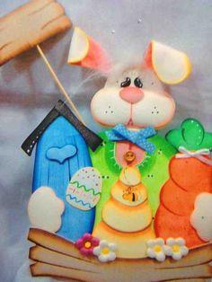 Conejo carpeta en foamy