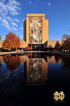 library and reflecting pool - Touchdown Jesus @ Notre Dame University