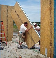 Is this the building technology of the future? Heres why structural insulated panels are a great option for building sturdy energy-efficient houses. Energy Efficient Homes, Energy Efficiency, Sips Panels, Structural Insulated Panels, Mother Earth News, Shed Homes, Earth Homes, Construction, Earthship