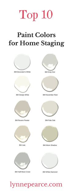 My top 10 favorite paint colors for home staging — Lynne Pearce Design Best Interior Paint, Interior Paint Colors, Paint Colors For Home, House Colors, Interior Design, Interior Ideas, Best Bathroom Paint Colors, Interior Plants, Room Colors