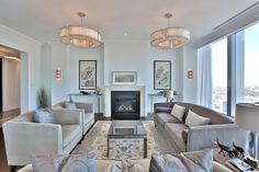 Four Seasons Hotel & Private Residences Luxury Penthouses Condominiums For Sale 50 Yorkville Ave Suite 4602 Toronto Living Room With Gas Fireplace Victoria Boscariol Chestnut Park Real Estate Luxury Penthouse, Luxury Condo, Bedroom Floor Plans, Two Bedroom, Toronto, Pent House, Condos, Condominium, House Design