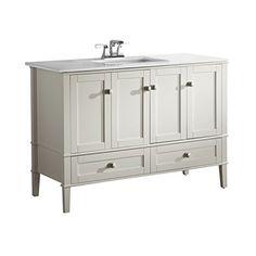 "Simpli Home Chelsea 49"" Bath Vanity, Soft White Simpli Home http://www.amazon.com/dp/B007O5BCWY/ref=cm_sw_r_pi_dp_q7lywb0NW1E6S"