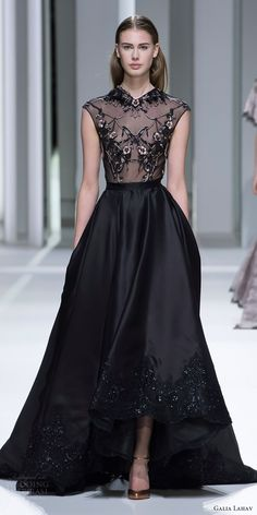 galia lahav haute couture spring 2017 (rubie ran) gown -- Galia Lahav Couture Spring 2017 Collection #black #runway #couture #blackdress