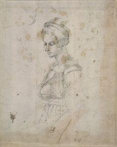 Michelangelo-Figure-of-a-Woman-Standing.jpg (634×797) Vittoria Colonna
