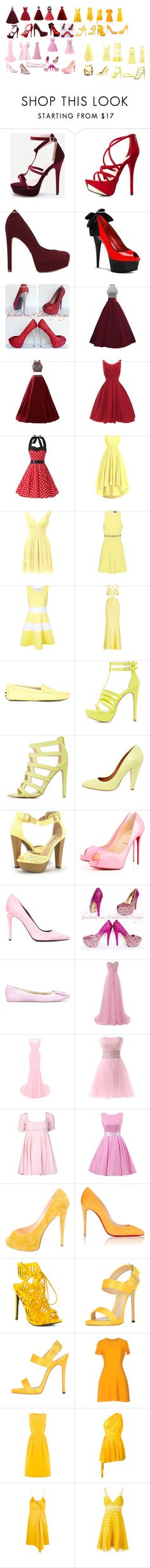 """""""Untitled #351"""" by megibson2005 on Polyvore featuring Charlotte Russe, ALDO, David Koma, Guild Prime, Hervé Léger, Tod's, Qupid, Mulberry, Privé and Alexander Wang"""