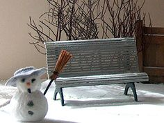 garden bench 1/12 tutorial