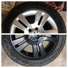 Before and after plasti dip wheels