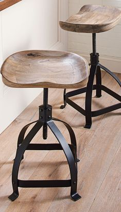Heard of farm-to-table? Well how about tractor-to-table? We handcarved the iconic tractor seat – like the one your grandfather used to drive – and mounted it on our Tractor Swivel Stool.