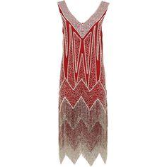 Miss Selfridge Red Flapper Dress