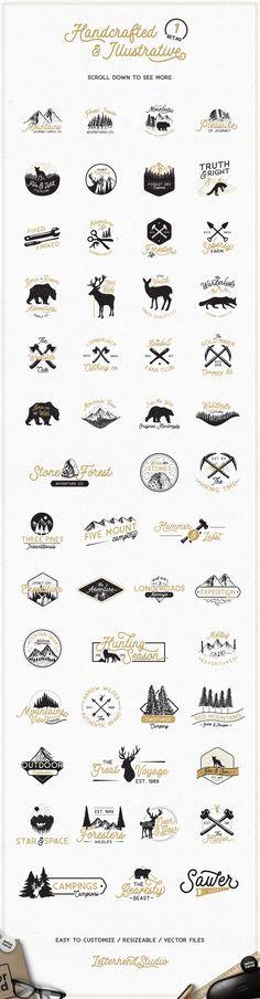 Adventure Logo Bundle 90%OFF! by letterhend on @creativemarket