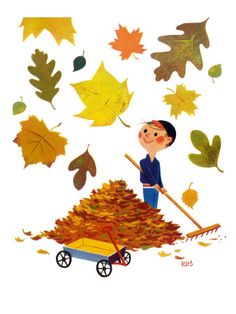 I may have to buy this giclée print of vintage Jack and Jill art as an autumn…