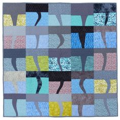 Twister improv piecing quilt pattern by Flying Parrot Quilts