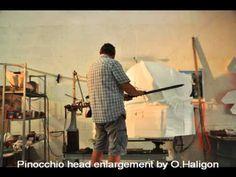 O. Haligon enlarge a sculpture by Carlito using 3D Pantograph. www.haligonfineart.com