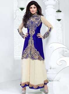 #Blue N Cream #ShilpaShetty Ankle Length #Anarkali