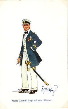 Navy Chief Petty Officer, Austrian Empire, Man Of War, Austro Hungarian, Army & Navy, Kaiser, Folk Music, Sound Of Music, Caricature