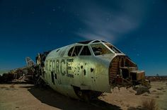 The edge of Rogers Dry Lake south of Edwards AFB is hosts several abandoned aircraft, including two wrecked B-52 bombers serial numbers 53-0379A and 57-0119