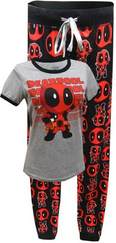 WebUndies.com Marvel Comics Deadpool Jogger Pajama