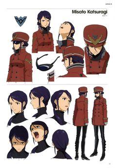 Misato Character Model Sheet