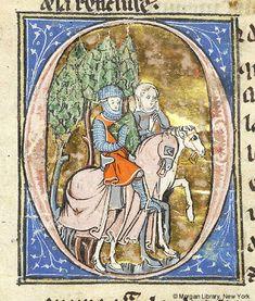 Lancelot du Lac, MS M.805 fol. 44r - Images from Medieval and Renaissance Manuscripts - The Morgan Library & Museum