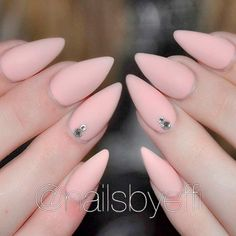 Fab and Stylish Nude Stiletto Nails to Be in Trends ★ See more: https://naildesignsjournal.com/nude-stiletto-nails-trends/ #nails