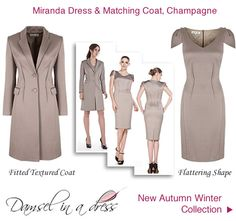 Damsel in a Dress Coat Occasion Outfit Champagne AW 2012 Collection