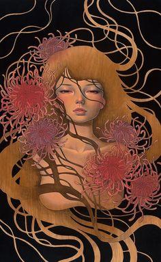 Audrey Kawasaki | Audrey Kawasaki的木版画 - 新鲜创意图志