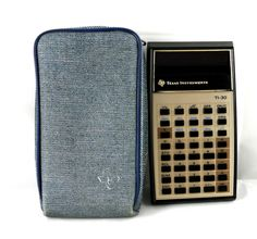 VINTAGE TEXAS INSTRUMENTS TI-30 ELECTRONIC SCIENTIFIC CALCULATOR + CASE - http://electronics.goshoppins.com/vintage-electronics/vintage-texas-instruments-ti-30-electronic-scientific-calculator-case/