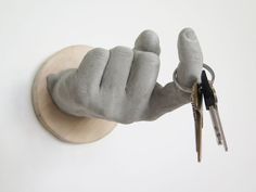 Concrete hand hook — cool.