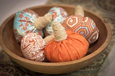 Fabric Pumpkins - easy DIY
