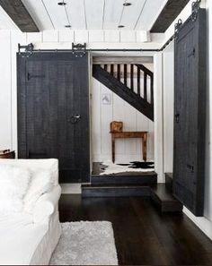 sliding barn door...for your closet