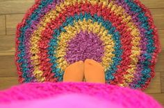 circle rug free crochet pattern