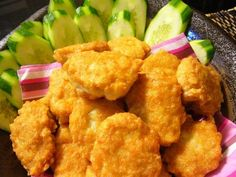 Tori No Kara-age (Japanese Deep Fried Chicken Nuggets) recipe – 110 calories Recipe on Yummly. @yummly #recipe
