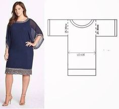 64 trendy sewing clothes plus size free pattern Plus Size Patterns, Sewing Patterns Free, Sewing Tutorials, Clothing Patterns, Dress Patterns, Pattern Dress, Free Pattern, Fashion Patterns, Simple Pattern