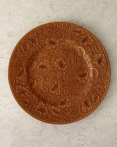 Dakota Tooled-Leather Charger - Ralph Lauren Home Dinnerware - RalphLauren.com