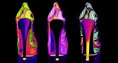 Neon High Heels fashion colorful shoes neon gif high heels