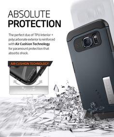 Spigen Slim Armor Case Samsung Galaxy S6 Edge Metal Slate