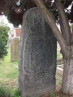 The gravestone of Johan-Richard Schram (1834-1898), in Chiswick Old Cemetery; a combination of Viking runestone and Christian memorial symbols. (Seeing Symbols)