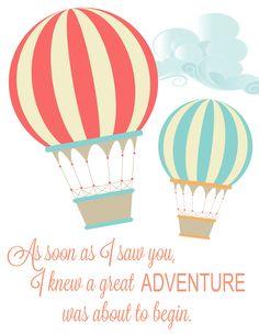FREE Hot Air Balloon Printable - www.classyclutter.net