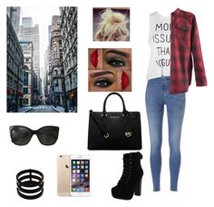 New York day #one by karlynboo on Polyvore featuring polyvore, fashion, style, Chelsea Crew, MICHAEL Michael Kors, Repossi, Chanel and Off-White