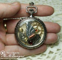 Scrap-a-licious-times: Faux Vintage Pocketwatch Steampunk Jewelry.