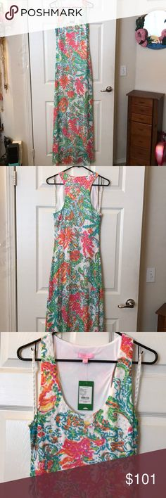 "Lilly Pulitzer dress Brand new with tags size large maxi dress. Approximate measurement from armpit down is 56"" laying flat. Lilly Pulitzer Dresses Maxi"
