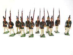 Heyde Zinnfiguren 11 Soldaten 1 Offizier marschierend Höhe ca. 5,5 cm /524 | eBay