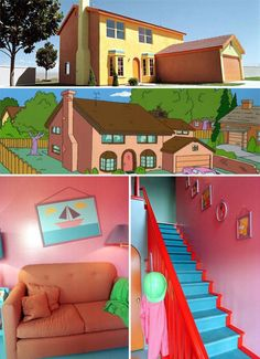 Real life Simpsons house in Henderson, Nevada -- I'M DUPLICATING MY KITCHENETTE TO LOOK LIKE THIS!