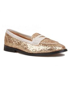 Golden Sequin Embellished Shoes
