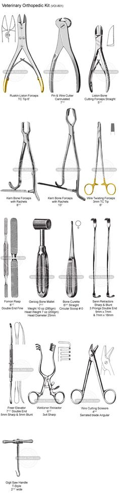 Veterinary Orthopedic Kit -Veterinary Instruments - Medical Tools Shop