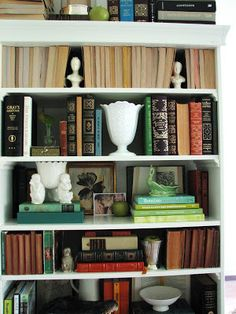 Arranging Accessories & Books on Shelves: Before & After